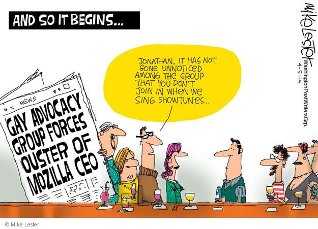 Cartoonist Mike Lester  Mike Lester's Editorial Cartoons 2014-04-05 group