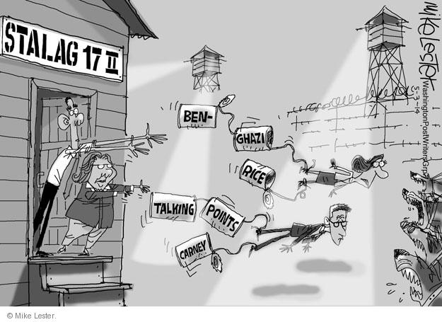Cartoonist Mike Lester  Mike Lester's Editorial Cartoons 2014-05-03 Benghazi