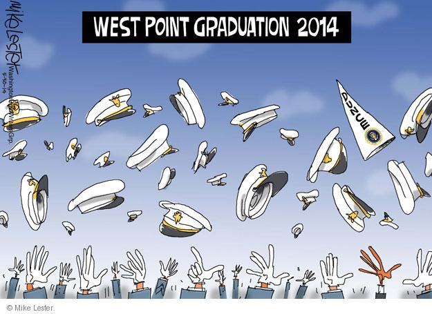 Cartoonist Mike Lester  Mike Lester's Editorial Cartoons 2014-05-30 military academy