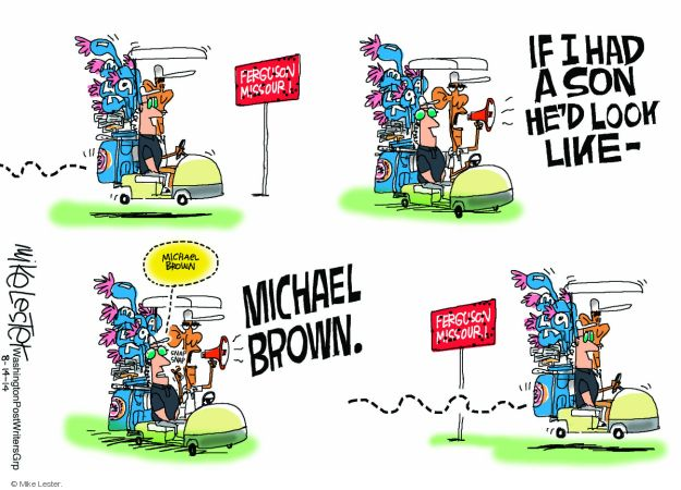 Cartoonist Mike Lester  Mike Lester's Editorial Cartoons 2014-08-14 Obama administration