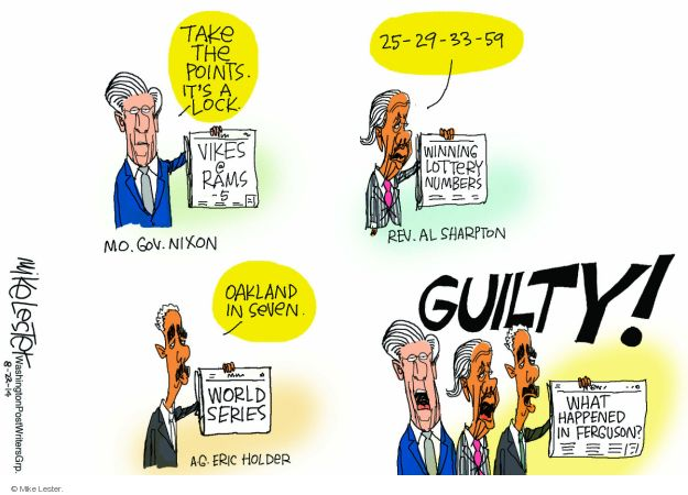 Cartoonist Mike Lester  Mike Lester's Editorial Cartoons 2014-08-22 Eric Holder