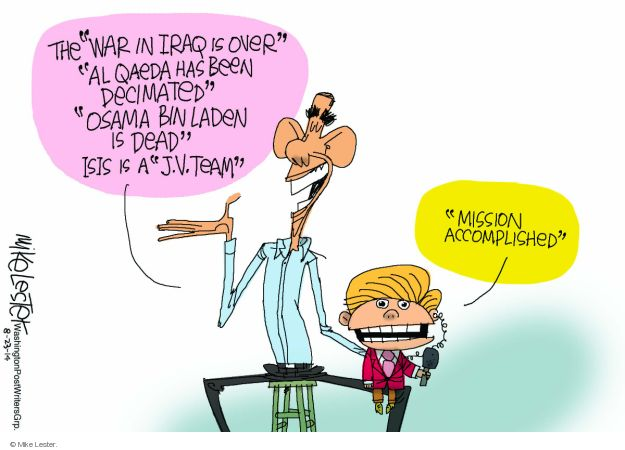 Cartoonist Mike Lester  Mike Lester's Editorial Cartoons 2014-08-23 Obama administration