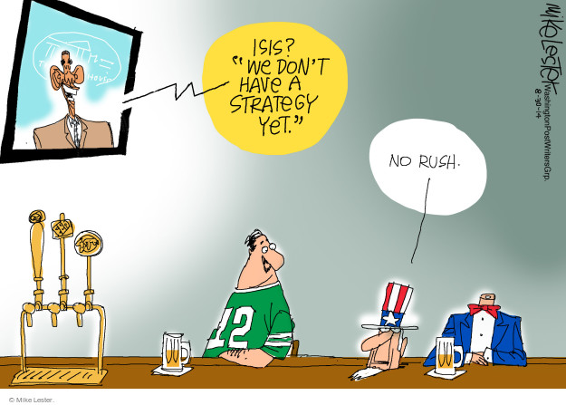 Cartoonist Mike Lester  Mike Lester's Editorial Cartoons 2014-08-30 Iraq