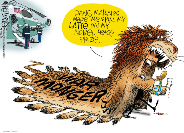 Mike Lester  Mike Lester's Editorial Cartoons 2014-09-25 Obama terrorism