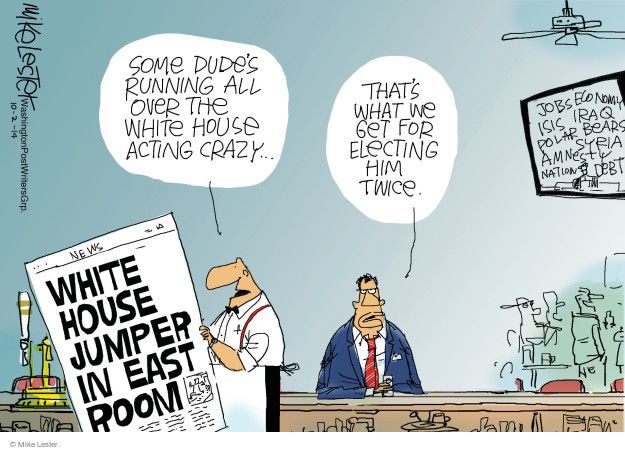 Cartoonist Mike Lester  Mike Lester's Editorial Cartoons 2014-10-02 Barack Obama debt
