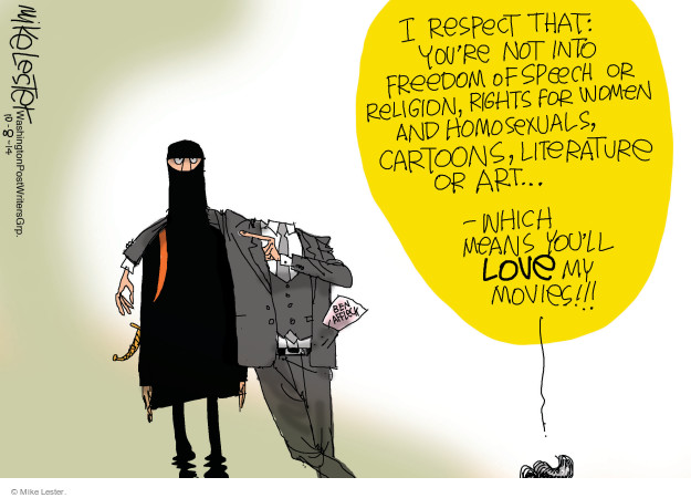 Mike Lester  Mike Lester's Editorial Cartoons 2014-10-08 extremism