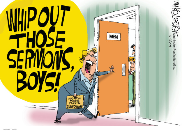 Mike Lester  Mike Lester's Editorial Cartoons 2014-10-22 equal rights