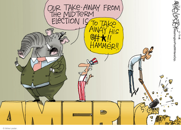Mike Lester  Mike Lester's Editorial Cartoons 2014-11-07 Obama administration