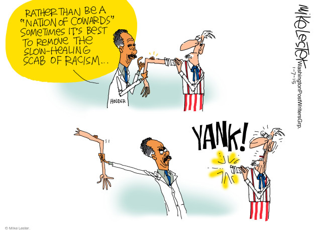 Cartoonist Mike Lester  Mike Lester's Editorial Cartoons 2015-01-07 Eric Holder