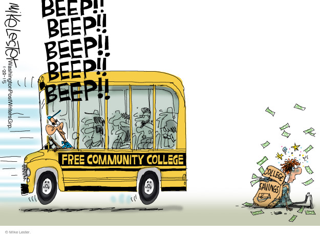 Cartoonist Mike Lester  Mike Lester's Editorial Cartoons 2015-01-20 college student
