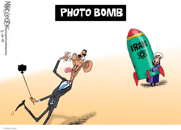 Cartoonist Mike Lester  Mike Lester's Editorial Cartoons 2015-02-19 Barack Obama selfie