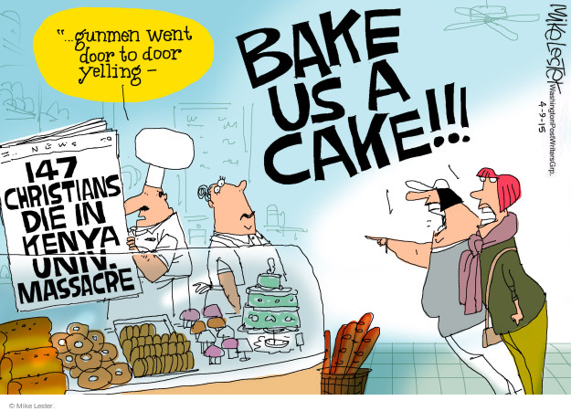 Cartoonist Mike Lester  Mike Lester's Editorial Cartoons 2015-04-09 bake