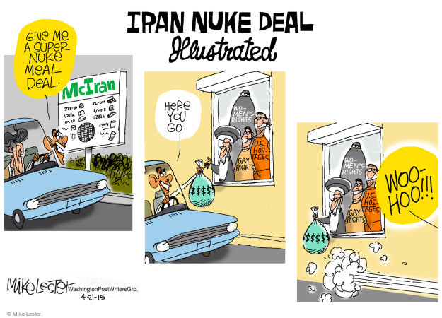 Cartoonist Mike Lester  Mike Lester's Editorial Cartoons 2015-04-21 negotiation