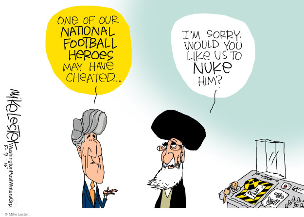 Cartoonist Mike Lester  Mike Lester's Editorial Cartoons 2015-05-09 nuclear