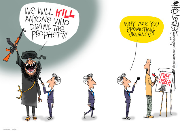 Cartoonist Mike Lester  Mike Lester's Editorial Cartoons 2015-05-30 extremist