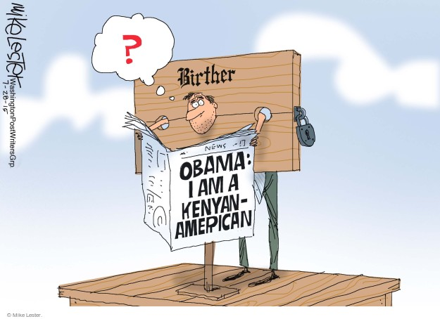 ?  Birther. Obama: I am a Kenyan-American.