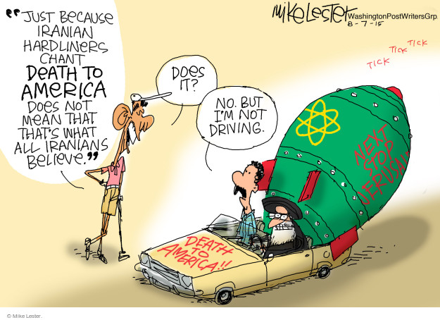 Cartoonist Mike Lester  Mike Lester's Editorial Cartoons 2015-08-07 nuclear weapon