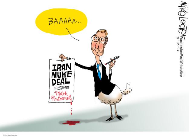 Cartoonist Mike Lester  Mike Lester's Editorial Cartoons 2015-09-12 republican senate