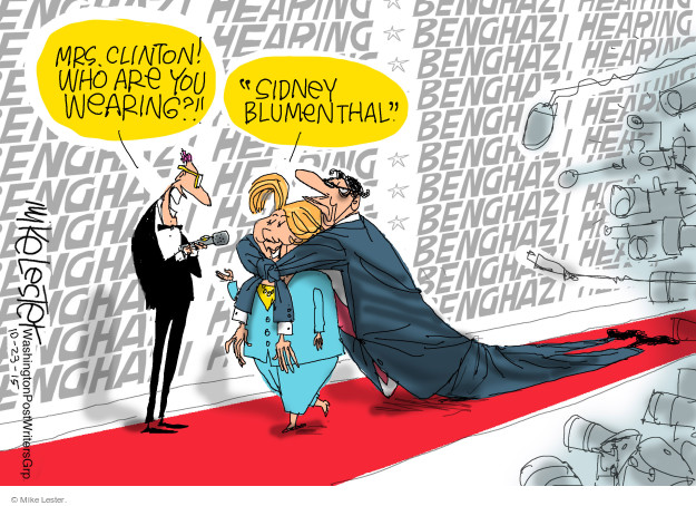 Mike Lester  Mike Lester's Editorial Cartoons 2015-10-23 Benghazi