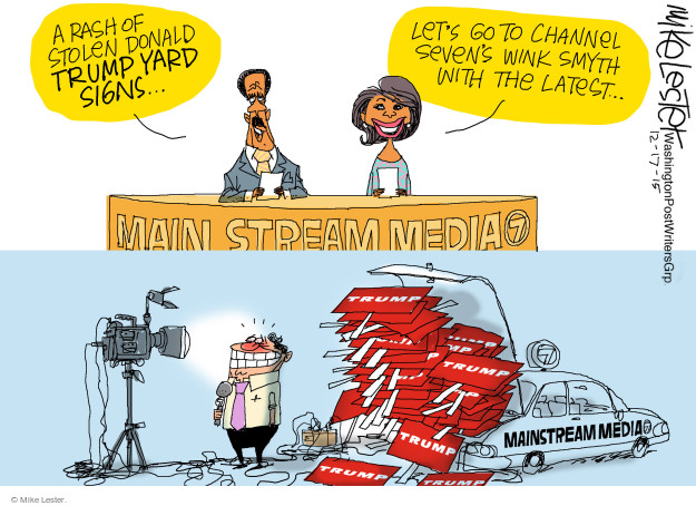Mike Lester  Mike Lester's Editorial Cartoons 2015-12-17 mainstream media