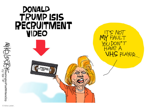 Donald Trump ISIS recruitment video. Its not MY fault you dont have a VHS player …