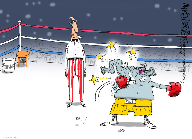 Mike Lester  Mike Lester's Editorial Cartoons 2016-01-30 boxer