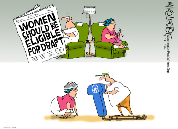 News. Women should be eligible for draft.