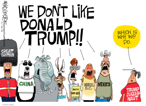 Mike Lester  Mike Lester's Editorial Cartoons 2016-02-26 mainstream media