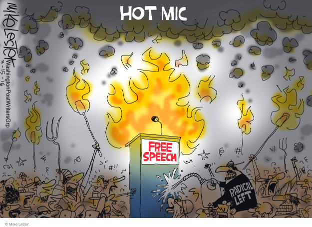 Hot Mic. Free Speech. Radical Left.