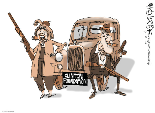 Mike Lester  Mike Lester's Editorial Cartoons 2016-06-11 Bill Clinton