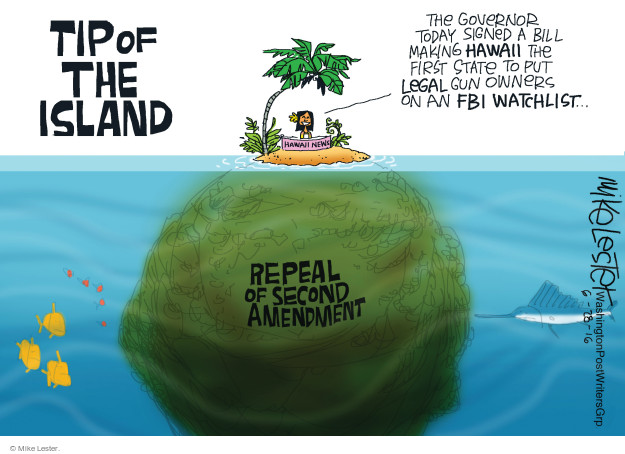 Mike Lester  Mike Lester's Editorial Cartoons 2016-06-28 first amendment