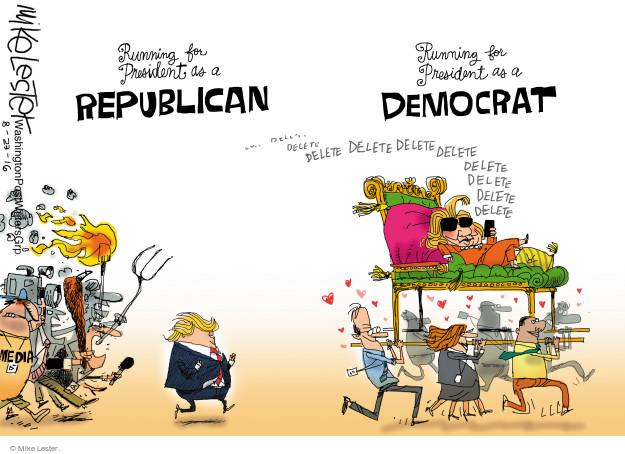 Mike Lester  Mike Lester's Editorial Cartoons 2016-08-23 former president