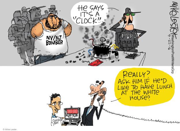 Cartoonist Mike Lester  Mike Lester's Editorial Cartoons 2016-09-22 Obama terrorism