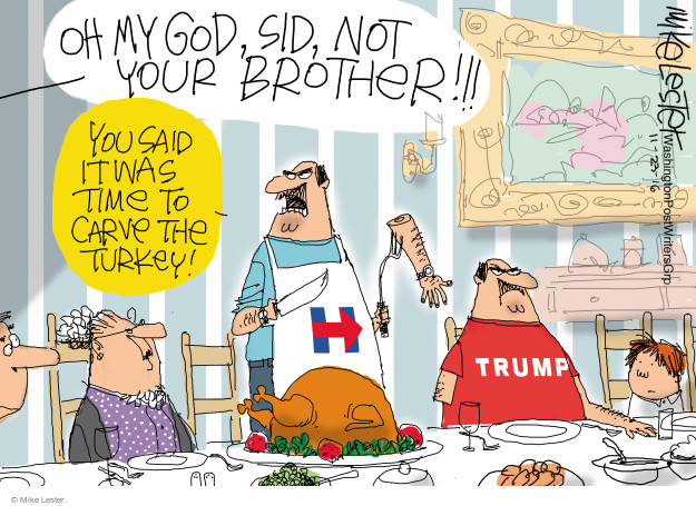 Mike Lester  Mike Lester's Editorial Cartoons 2016-11-23 voter