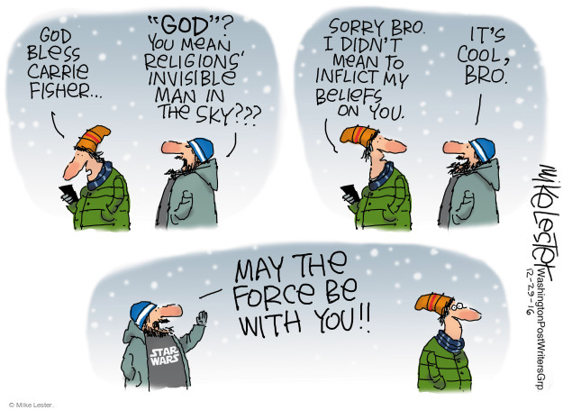 Mike Lester  Mike Lester's Editorial Cartoons 2016-12-29 death