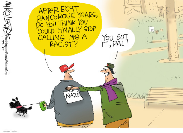 Mike Lester  Mike Lester's Editorial Cartoons 2017-01-29 racism