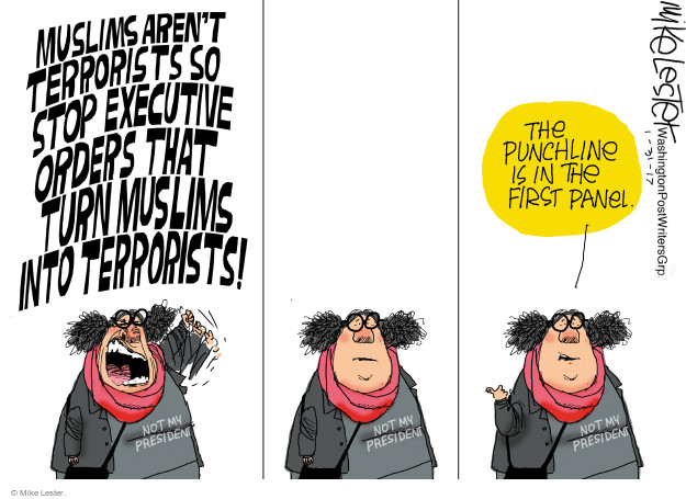 Mike Lester  Mike Lester's Editorial Cartoons 2017-01-31 terrorism