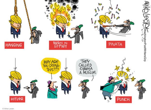 Mike Lester  Mike Lester's Editorial Cartoons 2017-02-02 Muslim