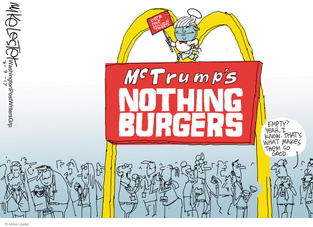 Over one million tweets. McTrumps Nothing Burgers. Empty? Yeah, I know. Thats what makes them so good.