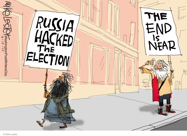 Russia hacked the election. The end is near.
