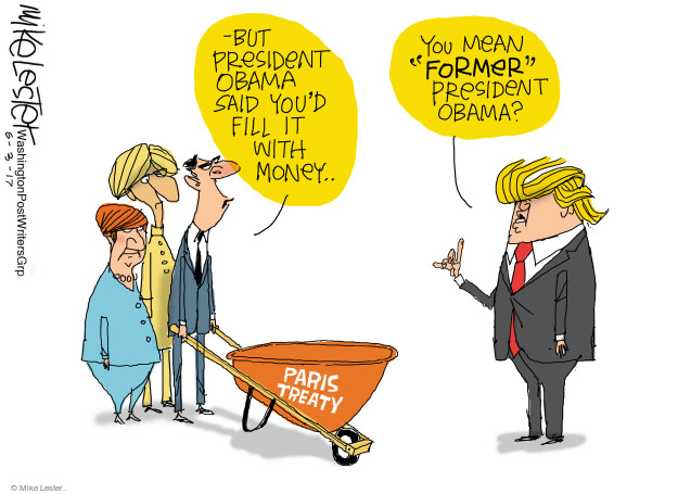 Cartoonist Mike Lester  Mike Lester's Editorial Cartoons 2017-06-03 money