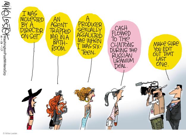 Cartoonist Mike Lester  Mike Lester's Editorial Cartoons 2017-10-19 uranium