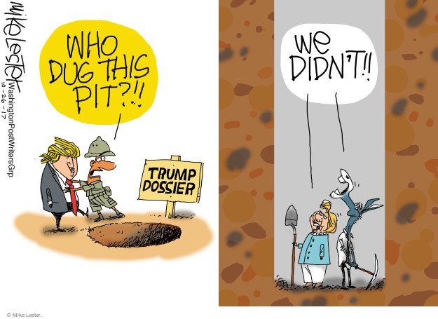 Mike Lester  Mike Lester's Editorial Cartoons 2017-10-26 2016 election