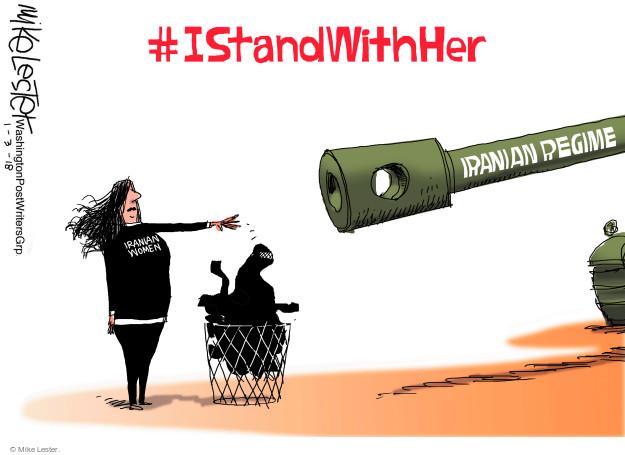 #IStandWithHer. Iranian regime. Iranian women.