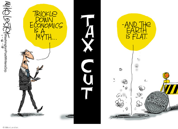 Cartoonist Mike Lester  Mike Lester's Editorial Cartoons 2018-01-16 tax