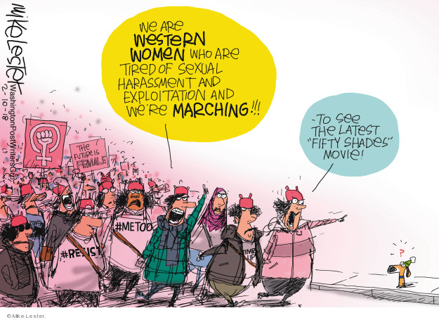 Cartoonist Mike Lester  Mike Lester's Editorial Cartoons 2018-02-10 protest