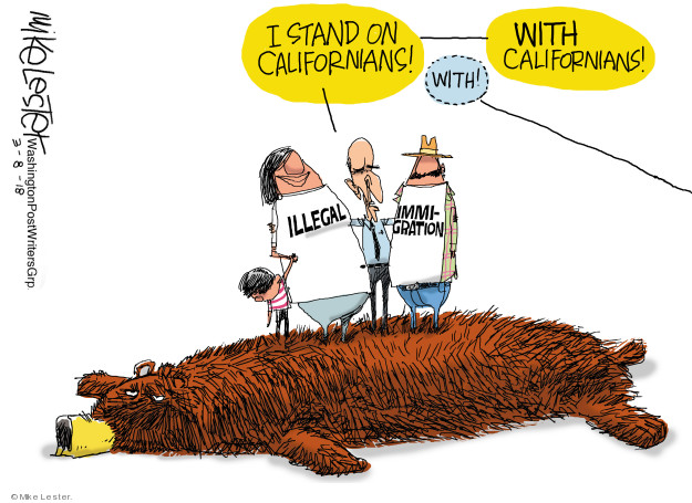 Cartoonist Mike Lester  Mike Lester's Editorial Cartoons 2018-03-08 government