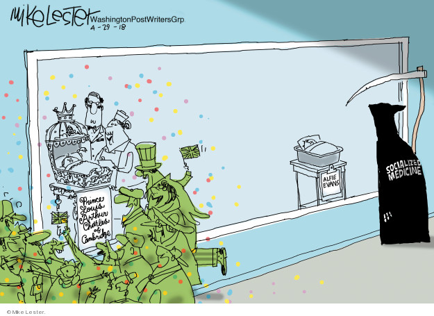 Cartoonist Mike Lester  Mike Lester's Editorial Cartoons 2018-04-29 medical insurance