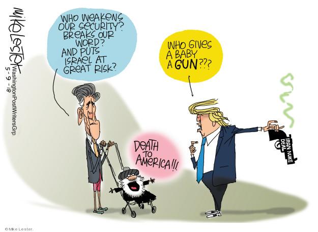 Cartoonist Mike Lester  Mike Lester's Editorial Cartoons 2018-05-09 program