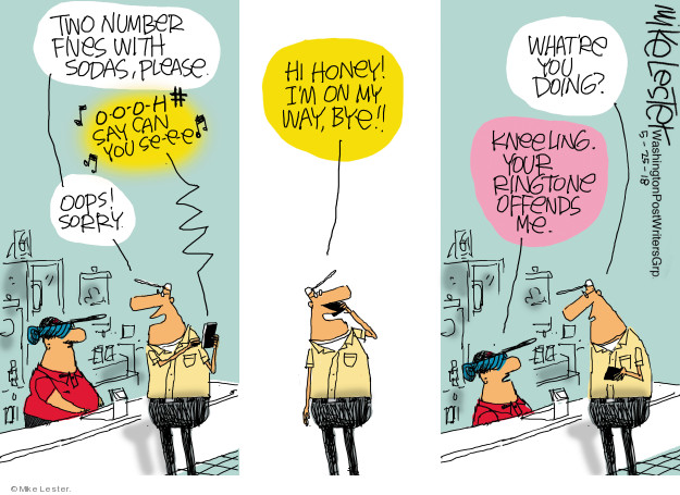 Cartoonist Mike Lester  Mike Lester's Editorial Cartoons 2018-05-25 Mike